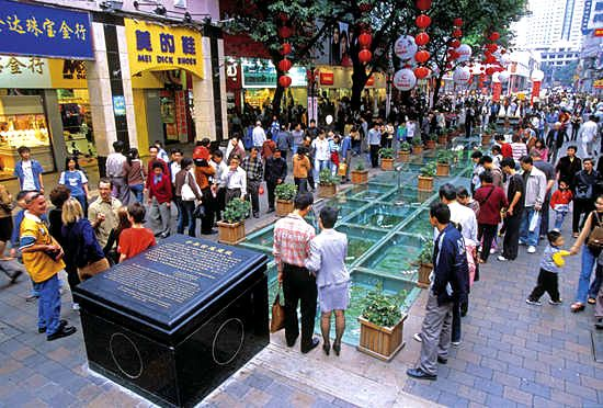 Guangzhou Shopping photos, Photos of Beijing Road, Shangxiajiu, Teemall