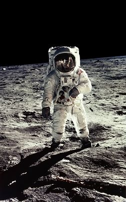 Apollo 11, Edwin Aldrin by Neil Armstrong (July 20, 1969)