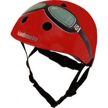 Kiddimoto Helmet Red Goggle Small