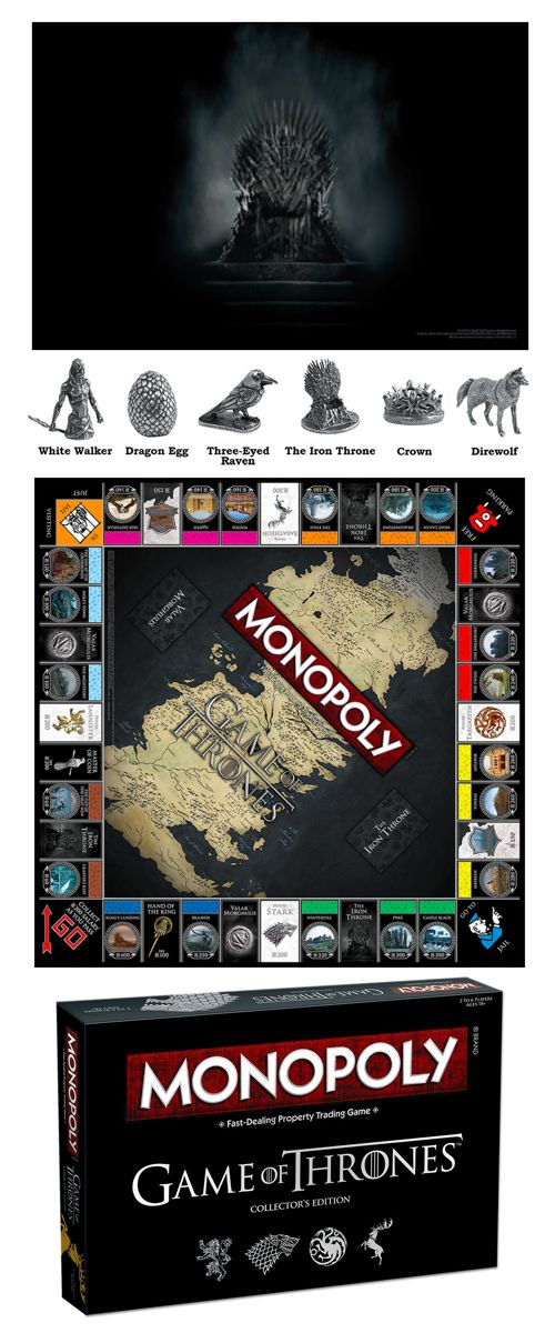 Game of Thrones Monopoly Collector's Edition is coming, and now you can buy, sell, and trade your way to the throne! This board game is the perfect gift for Game of Thrones fans and a great way to play your favorite game with a twist! #GameofThrones