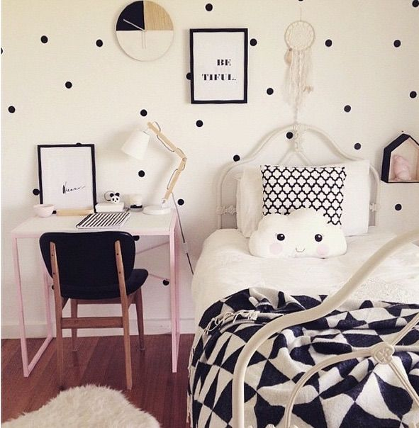 Kmart styling monochrome kids bedroom