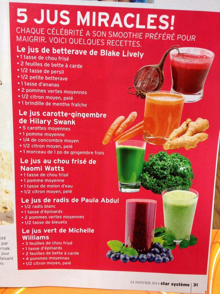 Smoothies / Fruits / Légumes / Santé