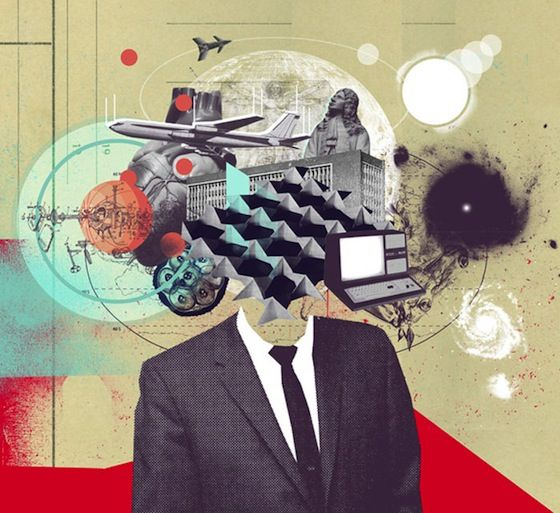Mario Wagner's collage art