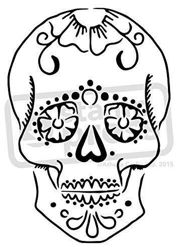 55 best sugar skull homework images on pinterest sugar skulls a5 sugar skull wall stencil template ws00004290 stamp http pronofoot35fo Images