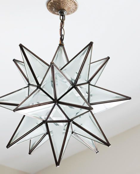 "Ceiling light (""Superior Moravian Star Light""): Shades of Light, shadesoflight.com......19""....$295...... SKU: LA0304D ZF"