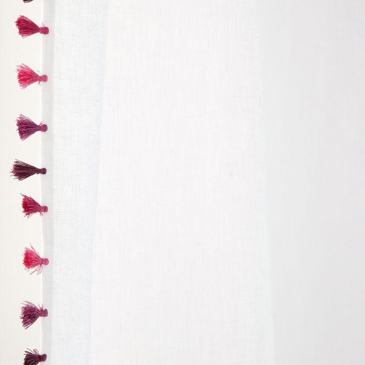 POMPOM WASHED LINEN CURTAIN - Curtains - Bedroom   Zara Home United Kingdom