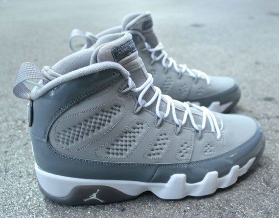 separation shoes 94ca4 c8965 Young Air Jordan 9 Big Boys Shoe Medium Grey Cool Grey White 302370 015