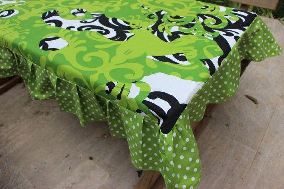 Rectangle Tablecloth Modern Tablecloth retro-tablecloth-ruffled-tablecloth