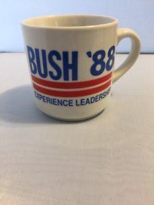 1988 BUSH '88 EXPERIENCE LEADERSHIP Vintage Coffee Mug POTUS George HW Bush  | eBay