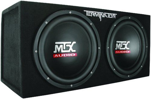 "MTX created the Terminator series amplified sub system with one thing in mind: to terminate the competition who make inferior quality loaded woofer systems. They did a great job with this system as they thoroughly tested their TN250/1 Class D monoblock amplifier with the two Terminator 12"" subwoofers and matched them in the perfect enclosure. Because they built the enclosure to perfect specifications for the subs and amp combo, they allow you to leave your fear of a bad syste"