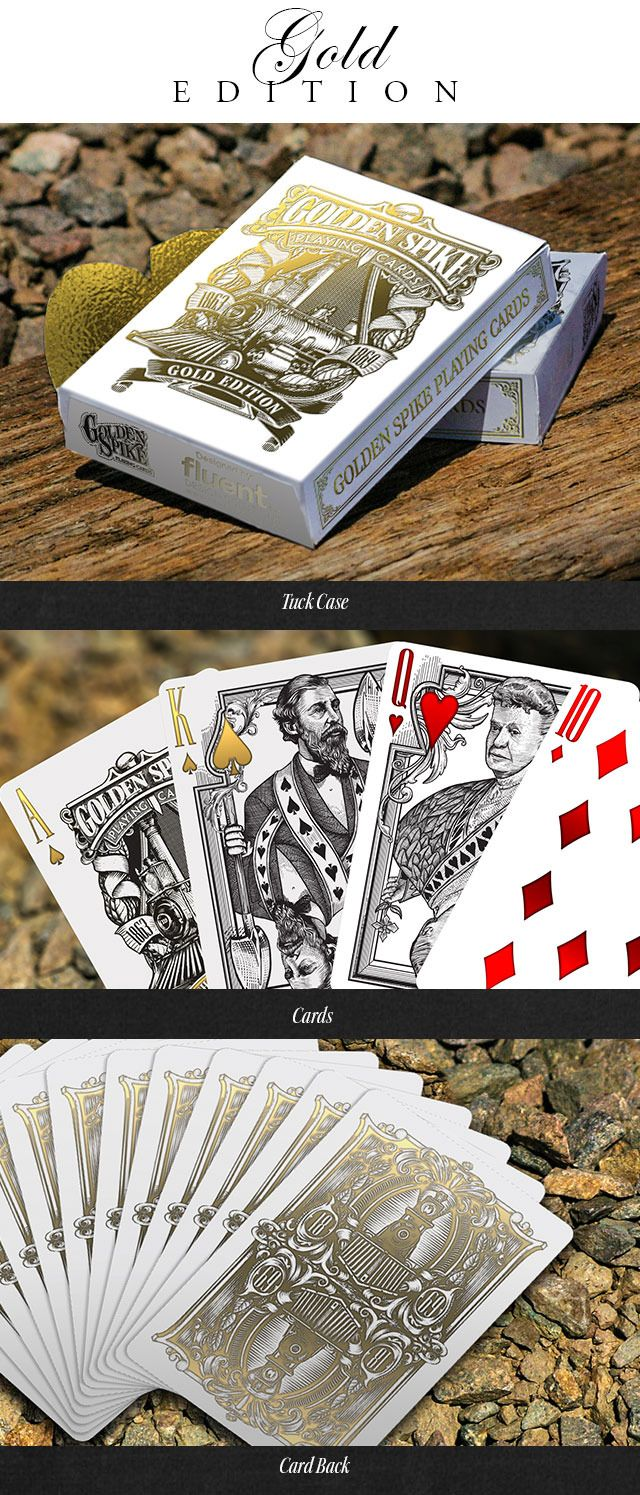 Golden Spike Bicycle® Playing Cards by Jody Eklund — Kickstarter  http://www.playingcards4magic.com/
