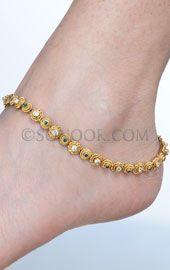 Indian Bridal Anklets, Indian Anklets Designs, Traditional Indian Anklets
