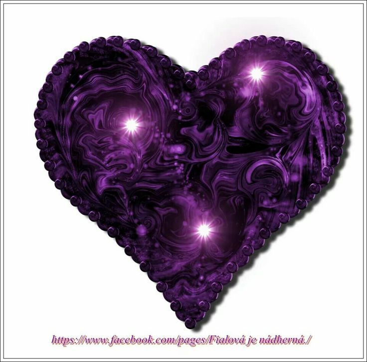 A Purple Heart With Swirls And Three Lights Inside It A