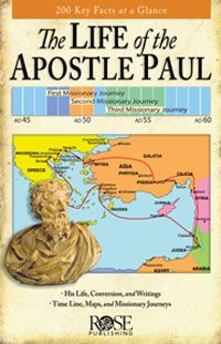 The Life of the Apostle Paul pamphlet consists of hundreds of fascinating facts revealed through concise descriptions, colorful maps of his journeys, a time line of recorded life events, his letters and their messages, and much more.