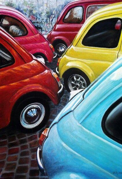 Schilderij Fiat500