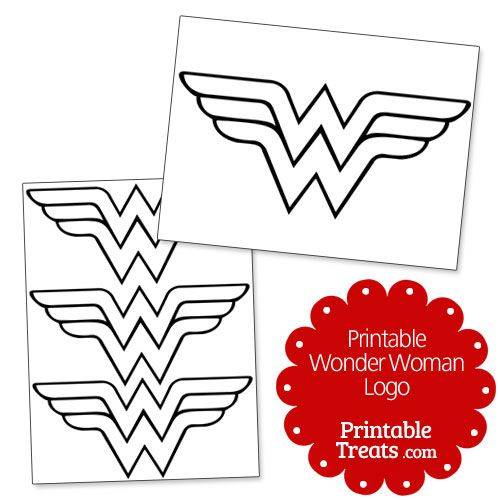 Printable Wonder Woman Logo from PrintableTreats.com