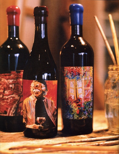 Artiste wine bottles. Photo by Shelley Straizis.