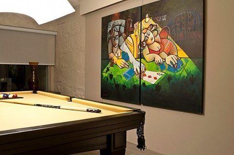 #sinuca #snooker #bilhar #espacogourmet #inovando #home #designdeinteriores #arquitetando www.inovalife.com.br
