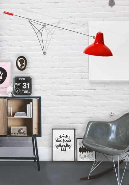 wall extendable vintage lamp