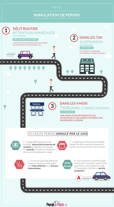 infographie : comprendre le processus de l'annulation de permis - permis annulé