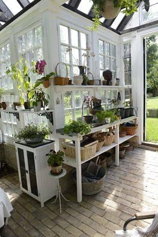 Corner potting shed ~
