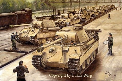 German tank Panther G Armored Division Wehrmacht tank..FEB16