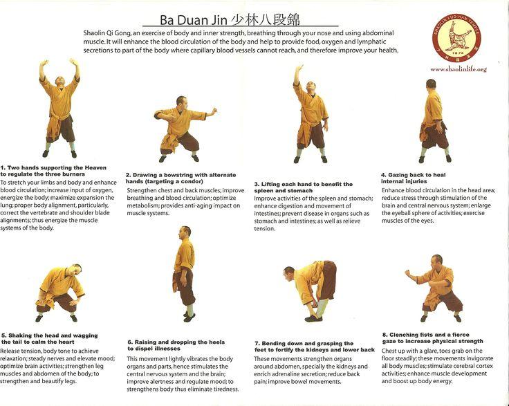 Brocades, Ba Duan Jin   Tai-chi   Pinterest   Tai chi and Qigong