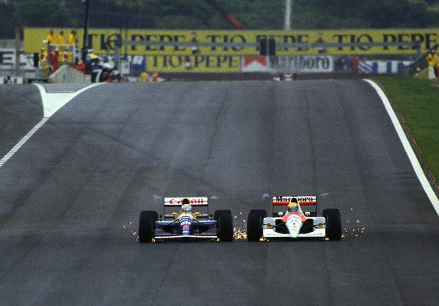 Nigel Mansell and Ayrton Senna, Spanish GP 1991