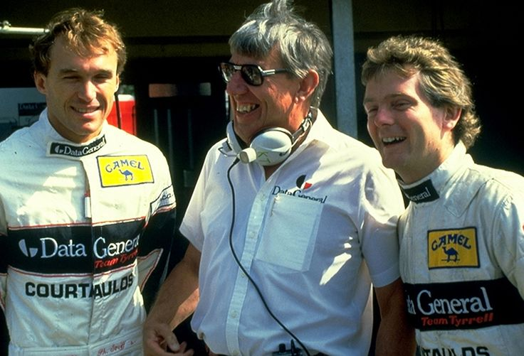 Philippe Streiff, Ken Tyrrell and Jonathan Palmer