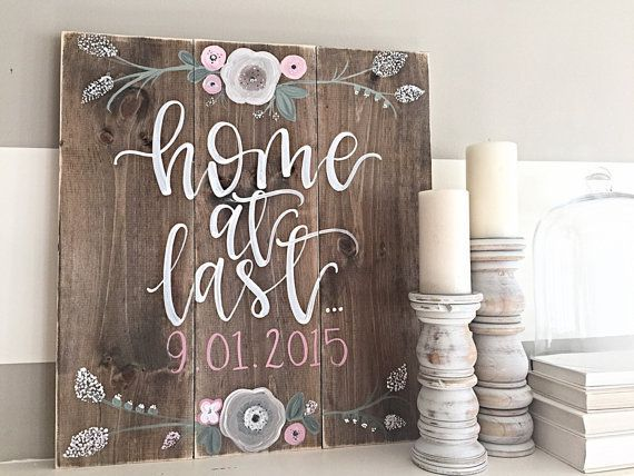 awesome Wood Sign | Hand Painted | Rustic Decor | Home Decor | Wall Art by http://www.best99-home-decorpics.club/homemade-home-decor/wood-sign-hand-painted-rustic-decor-home-decor-wall-art/