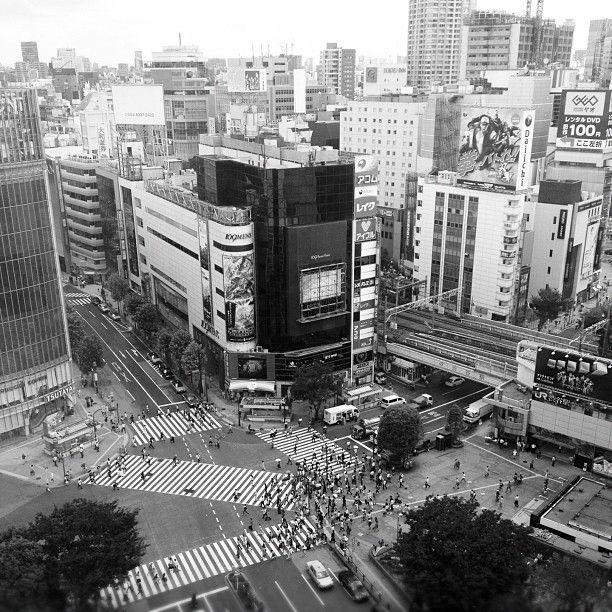 渋谷駅前 スクランブル交差点 (The Shibuya Crossing) in 渋谷区, 東京都