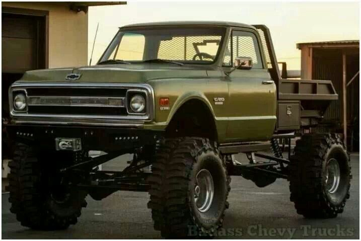 70 Chevy Flat Bed Work Truck Offroad Chevy Trucks