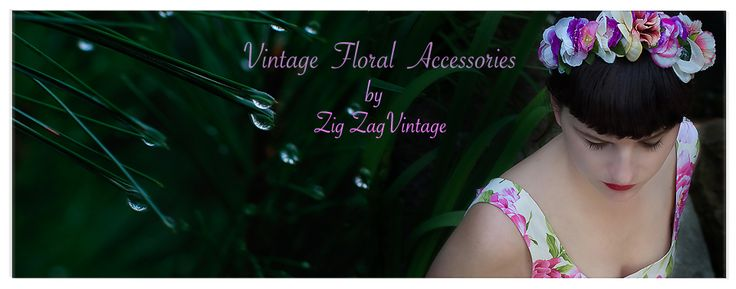Zig -Zag Vintage Hand made accessories and Summer Dress from Lazy 50's Eye