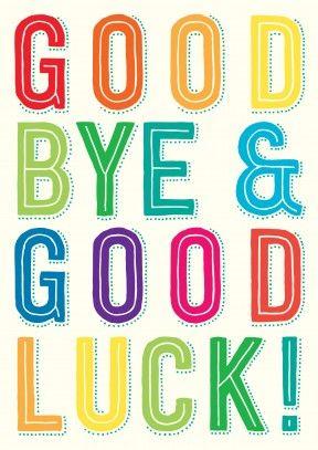 goodbye cards printable