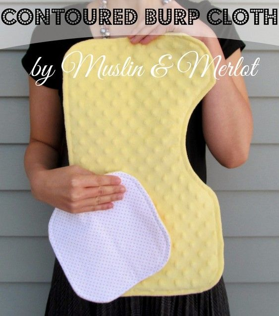 Tutorial: How to Make a Contoured Burp Cloth that fits over your shoulder and around your neck for better coverage / Muslin and Merlot