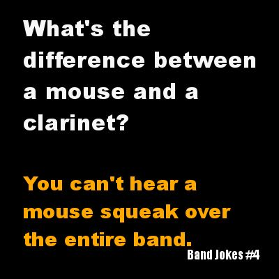 Ohhhhhh I can relate...in high school, I was a clarinet player whose instrument squeaked more than a boy's voice during puberty. You knew what part I was playing by the squeak-squak-squawks! (I'm With The Marching Band)