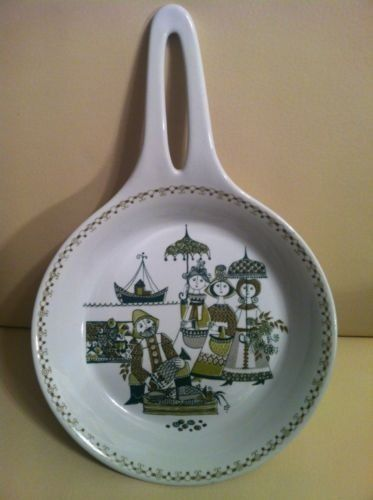 "What a sweet pattern! Vintage Figgjo Norway Turi Design MARKET 5"" Diameter Open Skillet"