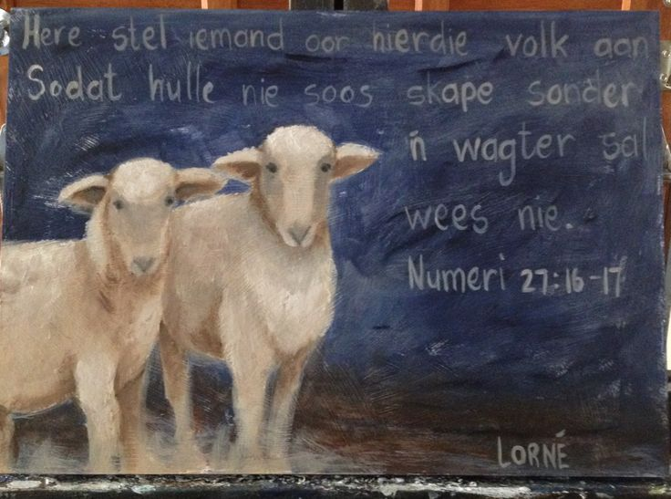 Oil painting -sheep