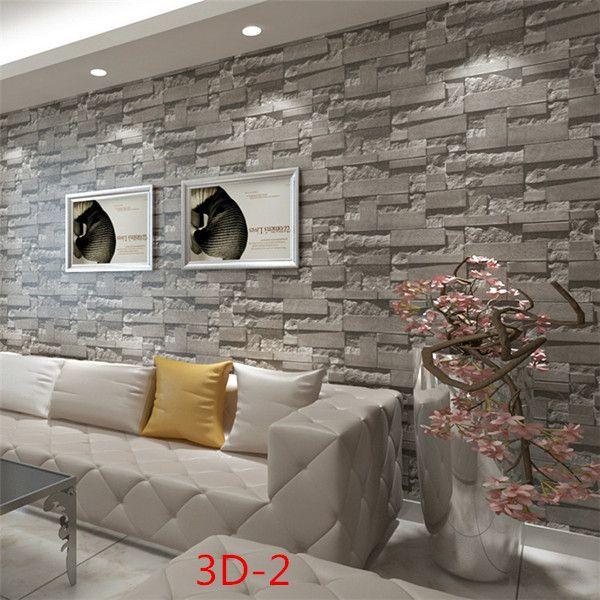 Chinese Retro Brick Wallpaper 3d Brick Background Wallpaper Pvc Wallcovering Living Room Bedroom Hallway Wallpaper Roll#3d brick wallpaper