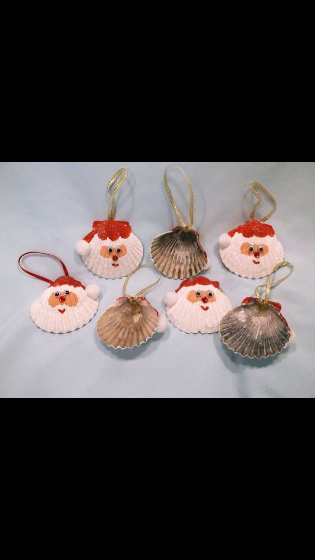 Seashells Holiday Christmas Tree Ornaments Christmas