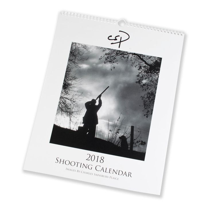 """The Shooting Calendar 2018"" large A3+ wall calendar"