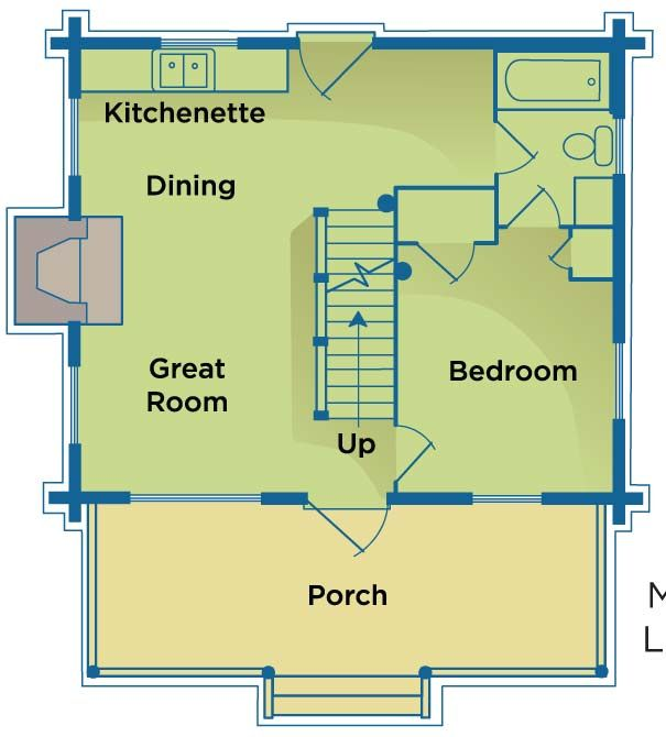 19 best images about floor plans on pinterest apartment for Mother in law log cabin