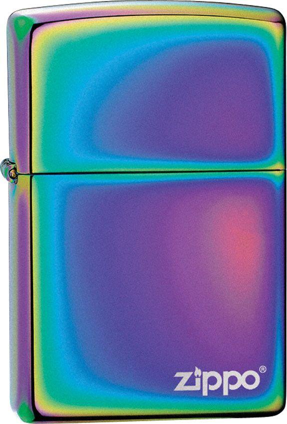 Zippo Logo Windproof LighterZO19003 Spectrum Finish - $29.95 #Lighters #Zippo #anodized #finish #spectrum #rainbow #beautiful #edc