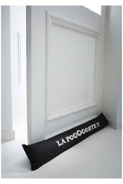 Boudin de porte noir imprimé