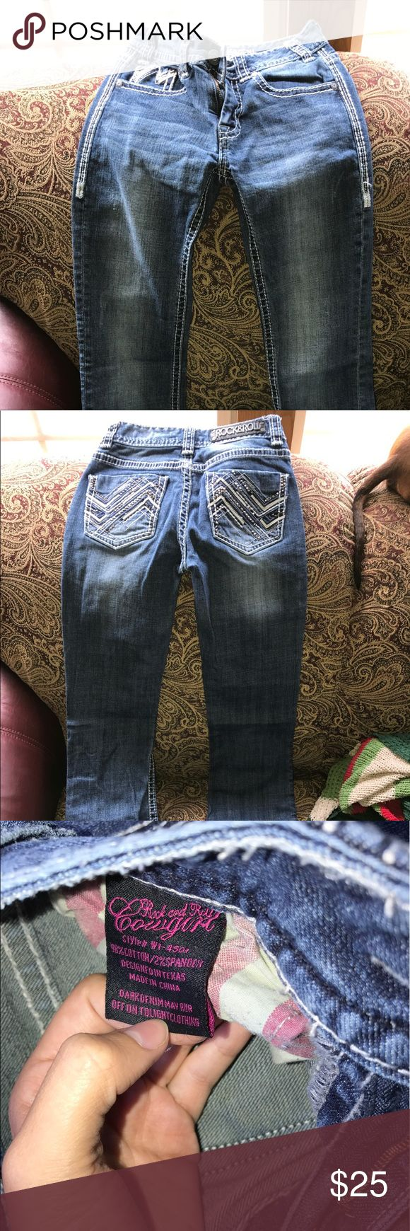 Rock and roll jeans Never worn just took tags off because I thought I would wear them often. Size 24x32 mid rise Rock and Roll Cowgirl Jeans Boot Cut