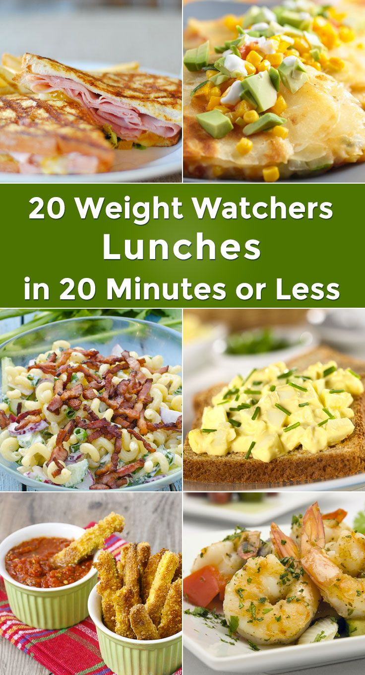 20 Weight Watchers Lunches in 20 Minutes or Less