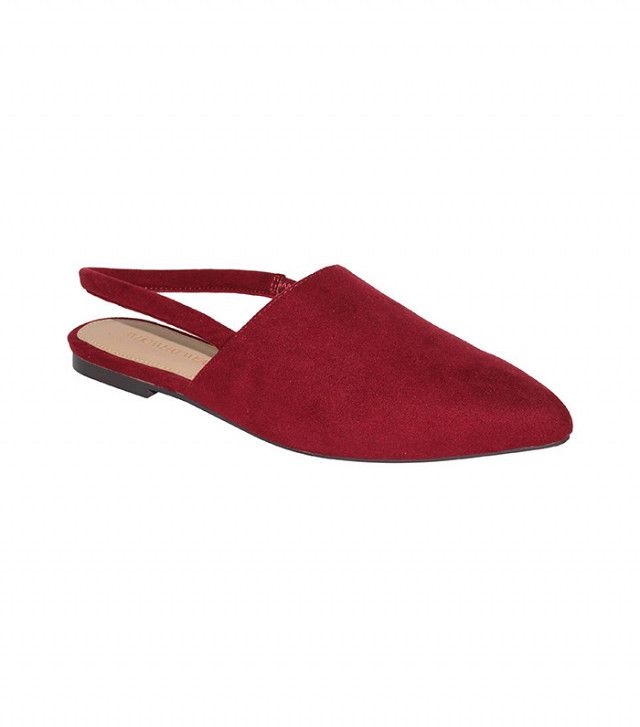 Who What Wear Women's Kat Microsuede Slingback Flats