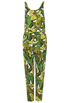 Leaf Print Jumpsuit