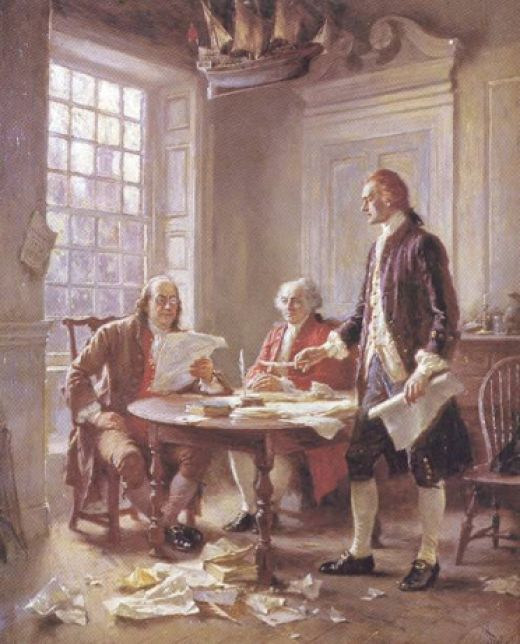 Benjamin Franklin and John Adams critique Thomas Jefferson's rough draft of the Declaration of Independence   This is not an essay in the classical sense. It is a statement of some of the facts and events that lead up to the publishing of...
