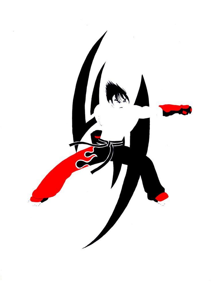 Jin Kazama - Tekken Print 8x10 by 2GallowaySisters on Etsy